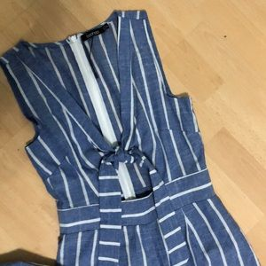 Blue and white jumpsuit size 4